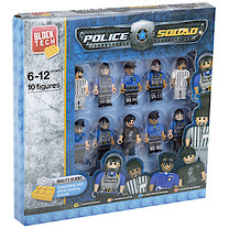 Block Tech 10 Block Figures - Police Squad