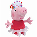 Ty Peppa Pig Buddy - 23cm Peppa Ballerina Soft Toy