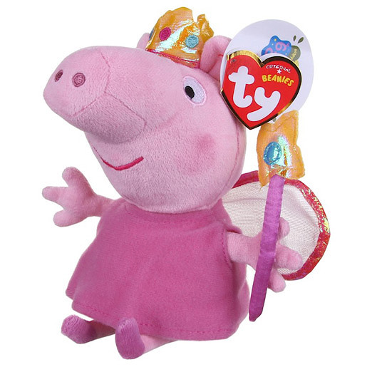 TY Beanies Peppa Pig Princess Peppa Soft Toy