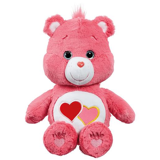 Care Bear Medium Plush With DVD - Love A Lot Bear | The