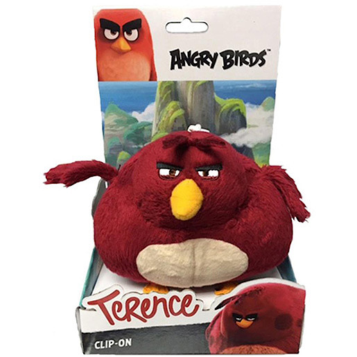 Angry Birds Movie Large Clip On Soft Toy Terence The Entertainer
