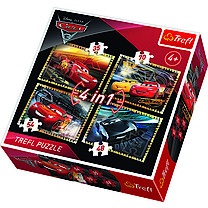 Trefl Disney Pixar Cars 3 4in1 Puzzle