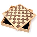 Solid Wood Chess and Draughts Set