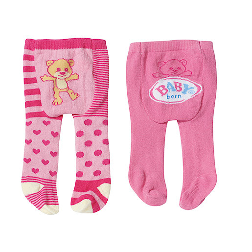 Image of Baby Born Tights 2 Pack - Teddy Bear