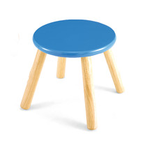 Wooden Stool - Blue