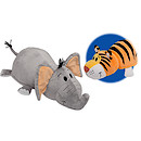 Flip A Zoo Reversible Soft Toy - Tiger to Elephant