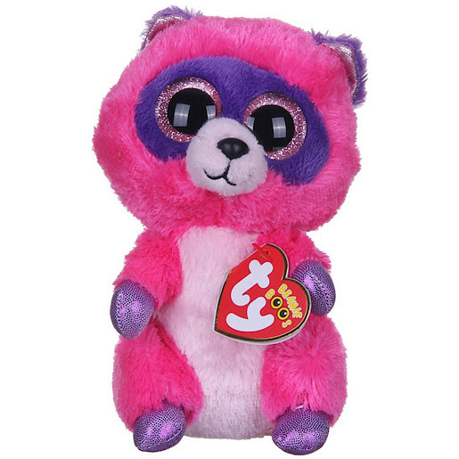 Image of Ty Beanie Boos - Roxie the Raccoon Soft Toy