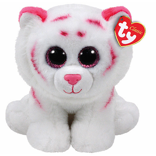 Ty Beanie Babies 25cm Classic Soft Toy Tabor the White Tiger