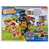 Paw Patrol Wooden Puzzle 3 Pack