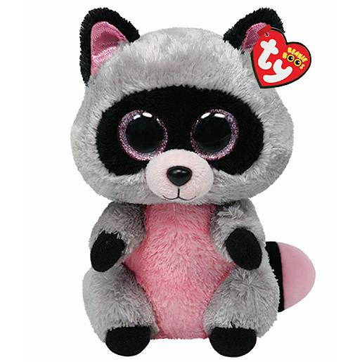 Ty Beanie Boos Buddy - Rocco the Raccoon Soft Toy