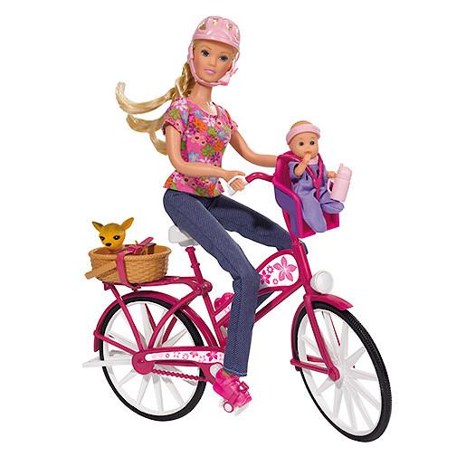 Steffi Love Bike Tour Doll with Pink Bike