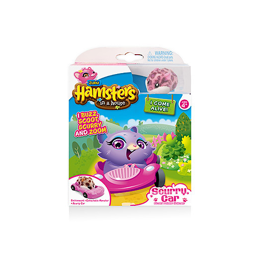 Hamsters in a House Hamster with Scurry Car Accessory  Poppy