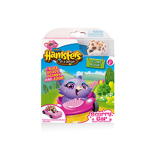 Hamsters in a House Hamster with Scurry Car Accessory  Peanut
