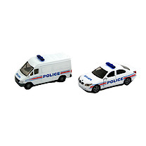 Die-Cast 1:87 Police Vehicle Set