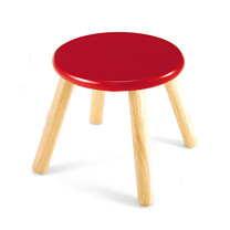 Wooden Stool 30cm - Red