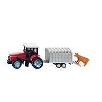 Die-Cast Tractor With Livestock Trailer