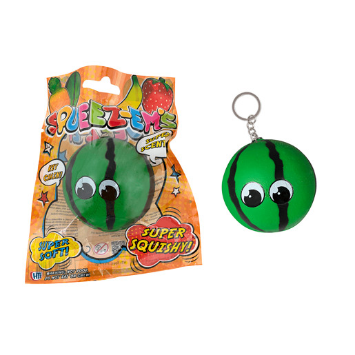 Squeez-ems Small Melon Squishy Keyring