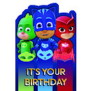 PJ Masks Birthday Card