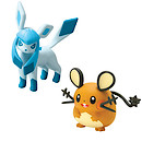 Pokemon XY Double Figure Pack - Dedenne vs Glaceon