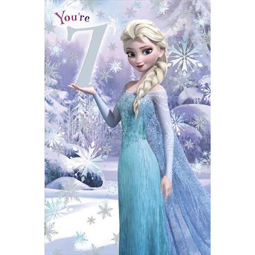 Disney Frozen Birthday Card 7 Years Disney Frozen Disney