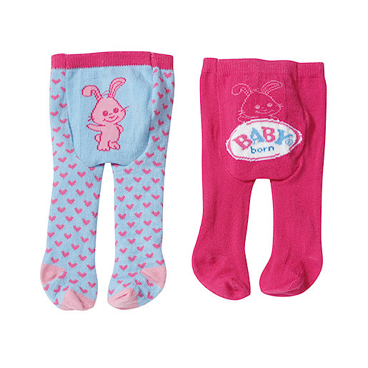 Image of Baby Born Tights 2 Pack - Rabbit
