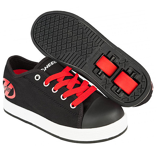 Heelys - Size 2 - Black and Red X2 Fresh Skate Shoes
