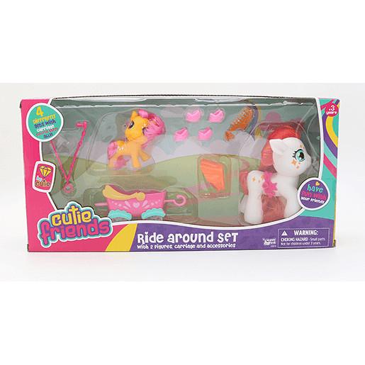 Cutie Friends Ride Around Set - White Pony
