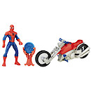 Marvel Ultimate Spider-Man Sinister 6 Web City Cycle Vehicle - Spider-Man with Streetside Racer