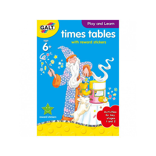 James Galt Play and Learn Times Tables with Reward Stickers