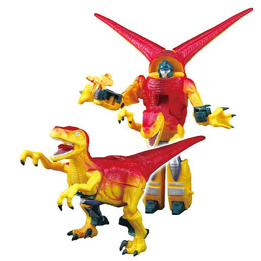 Robotsaur Transformable Red Deinonychus-Bot Figure