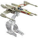 Hot Wheels Star Wars Die Cast X-Wing Fighter Red 5 Vehicle