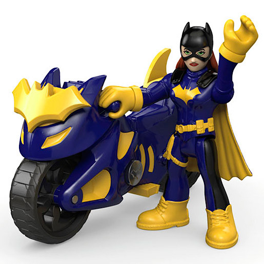 Image of Fisher-Price Imaginext DC Super Friends - Batgirl with Batcycle