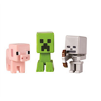 Minecraft Grass Series Mini Figures - Pig with Creeper and Skeleton