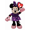 Ty Disney Minnie Beanie Boo Soft Toy with Purple Dress