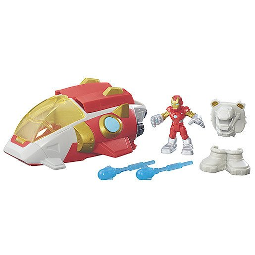 Playskool Heroes Marvel Super Hero Adventures Iron Man Starship