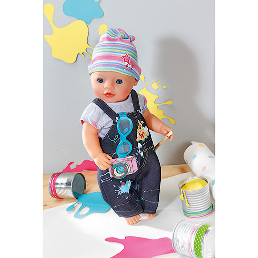 Image of Baby Born Deluxe Denim Outfit with Camera Design