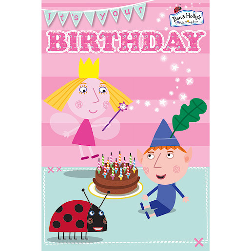 Ben and Holly Birthday Card