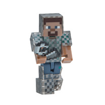 Minecraft Steve in Chain Armour Figure