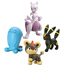 Pokemon XY 4 Figure Gift Pack - Mewtwo, Litleo, Umbreon and Wobbuffet