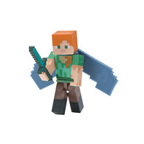 Minecraft Alex with Elytra Wings Figure