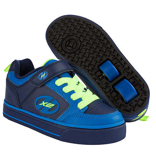 Heelys - Size 3 - X2 Navy and Neon Thunder Skate Shoes