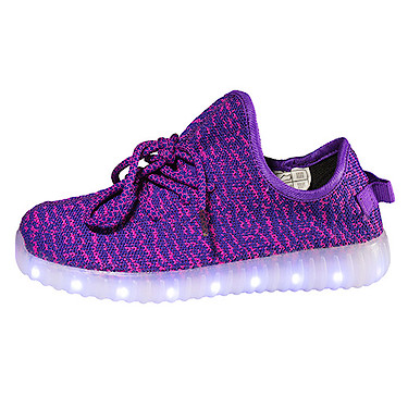 Purple Light and Sole LED Shoes