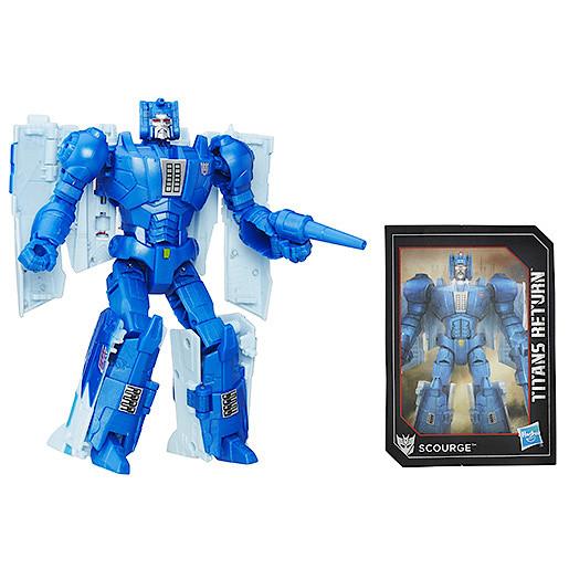 Transformers Generations Deluxe Titan Master Fracas & Scourge Figure