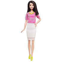 Barbie Fashionistas Doll - White & Pink Pizzazz