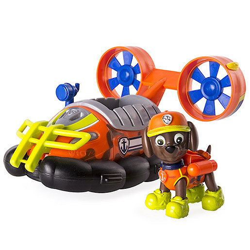 Paw Patrol Jungle Rescue Zuma's Jungle Hovercraft Vehicle with Figure
