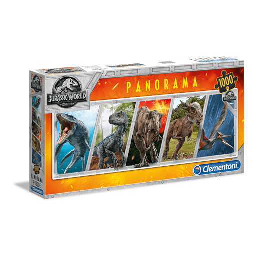 Clementoni - Jurassic World Panorama Puzzle 1000pc.