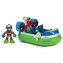 Teenage Mutant Ninja Turtles Half-Shell Heroes Deluxe Vehicle - Hovercraft with Sea Rescue Leonardo