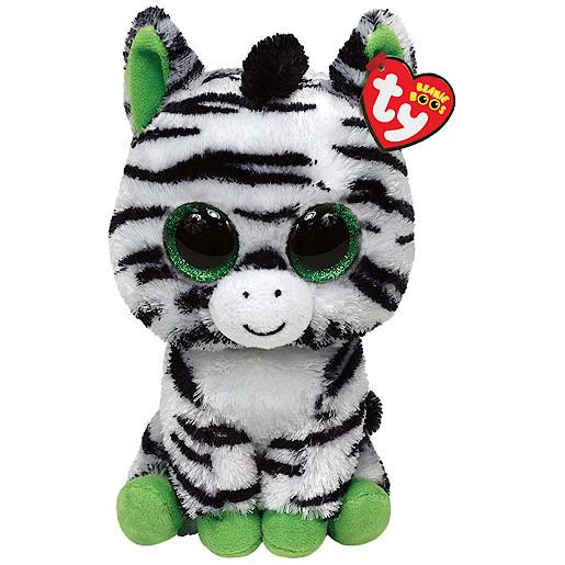 Ty Beanie Boo Buddy - Zig-Zag the Zebra Soft Toy