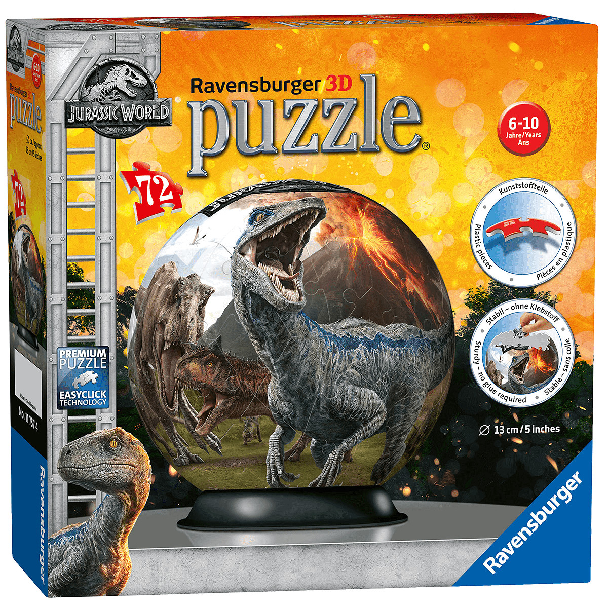 Fallen Kingdom XXL 100 Piece Jigsaw Puzzle Ravensburger Jurassic World