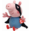 Ty Peppa Pig Buddy - 23cm George Superhero Soft Toy